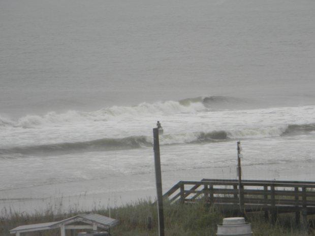 Cherry Grove Beach during Hurricane Sandy