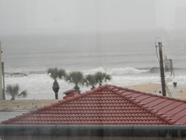 Cherry Grove Beach during Hurricane  Sandy